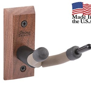 String Swing CC01V-BW Hardwood Home & Studio Wall Mount Violin Hanger - Black Walnut