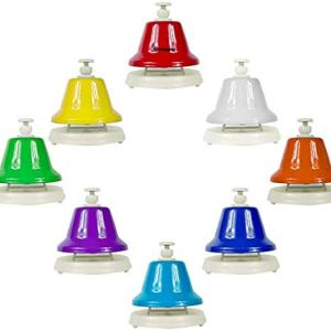 ENNBOM Desk Bells Hand Bells 8 Notes Music Bells Percussion Instrument Musical Teaching Chromatic