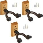 3-PACK Top Stage Acoustic Electric Guitar Hanger Keeper Wall Stand, 3-PACK, JX15-NA