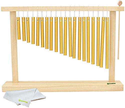 ENNBOM 20-NOTE Chime Table Top Bar Chime Wind Chime 20 Bars Instrument Percussion With Mallet