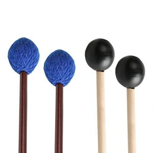 UNIME 2 Pairs Keyboard Marimba Mallets Wood Handle