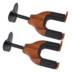 Guitar Wall Mount,Guitar Hook, Guitar Hanger,Auto Lock Guitar Wall Hanger, for Acoustic, Electric, Classical,Cello, Bass Guitar Stand. (Rosewood 2-pcs)