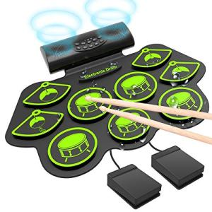 Roll Up Drum Practice Pad Midi Drum Kit