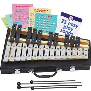 Glockenspiel 25 Notes with 23 Esy Play Songs for Beginners