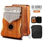 Kalimba Thumb Piano 17 Keys with Mahogany Wood,