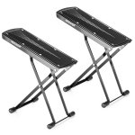 Neewer 2 Pack Guitar Foot Rest, Made of Solid Iron, Provides Six Easily Adjusted Height Positions, Excellent Stability with Rubber End Caps and Non-slip Rubber Pad