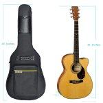 Sure Luxury Sure Luxury 41 Inch Acoustic Guitar Soft Case Gig Bag Backpack – Black