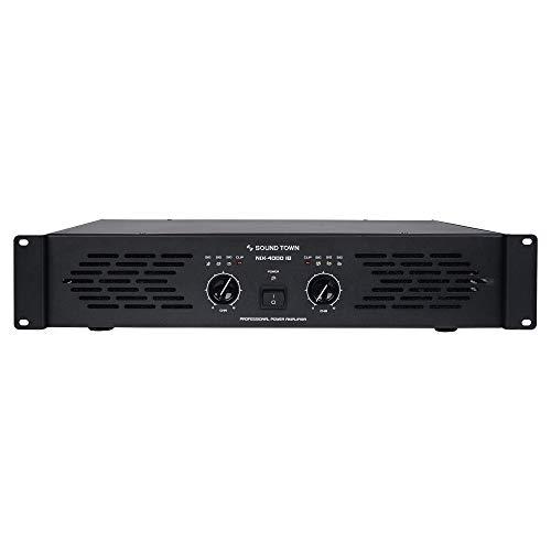 Sound Town Professional Dual-Channel, 2 x 1000W at 4-ohm, 4000W Peak Output Power Amplifier (NIX-4000IB)