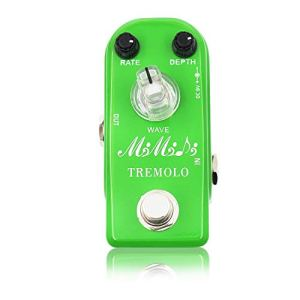 Tremolo Pedal, MIMIDI Mini Guitar Pedal with Three Modes, Analog Classic Tremolo Guitar Effects Pedal True Bypass (M17 Tremolo Green)