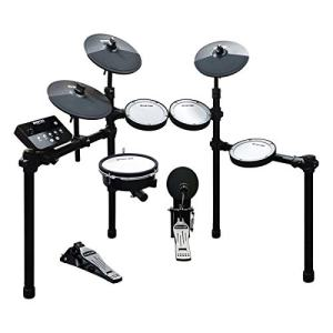 HXW SD61-5 Mesh Kit Electric Drum Set 8-Piece Electronic Drum Kit, With Easy Assemble Rack, 200+ Sounds, 30 Kits, Support USB-MIDI, Drum Sticks & Drum Key Included