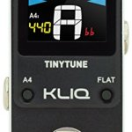 KLIQ TinyTune Tuner Pedal for Guitar and Bass - Mini - Chromatic - with Pitch Calibration and Flat Tuning (Power Supply Required)