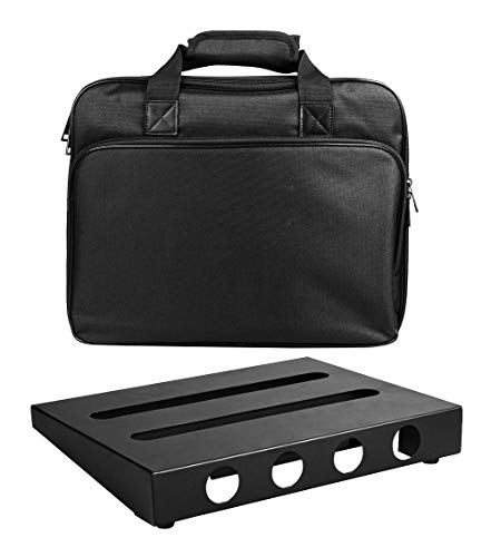 GOKKO Guitar Pedal Board Case 13.8 x 11 Inch Pedalboard with Carrying Bag (Medium)