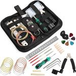 TIMESETL 26 Pcs Guitar Repair and Setup Tool Kit for Guitar Ukulele Bass Mandolin Banjo, Cleaning Maintenance Accessories Set with Convenient Case
