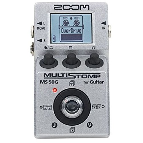 Zoom MS-50G MultiStomp Guitar Effects Pedal, Single Stompbox Size, 100 Built-in effects, Tuner
