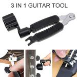 3-In-1 Guitar String Winder And Cutter,Multifunctional Guitar String Pin Puller,Guitar Repairing and Adjustment Tool