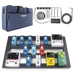 Guitar Pedal Board Large, 22.2″ x 12.78″ x 2.75″, Pedalboard for Guitar, Aluminum Alloy Effects Pedal Board with Bag
