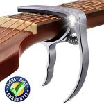 Guitar Capo, Premium Zinc Metal Capo For Acoustic Guitar and Electric Guitar, Banjo,Mandolin, Ukulele Capo, Silver