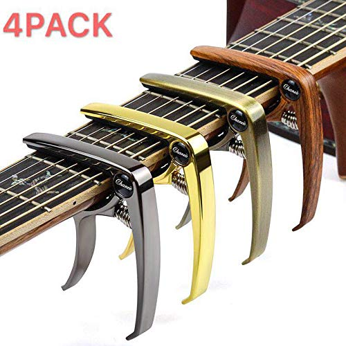Guitar Capo for Acoustic and Electric Guitars,Ukelele,Bass with Guitar 4 Pack