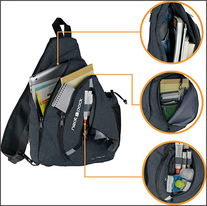 One Strap Backpack Multi components Canvas
