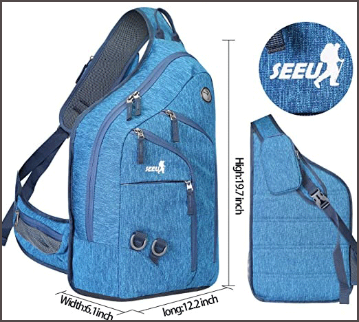 One Strap Backpack size