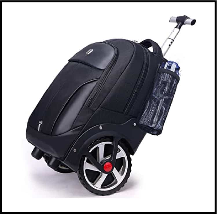 Rolling Waterproof Backpack with Wheels for Business