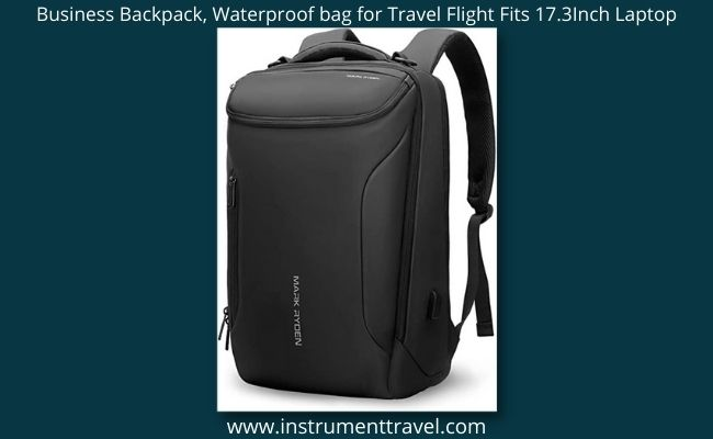 Business Backpack, Waterproof bag for Travel Flight Fits 17.3Inch Laptop