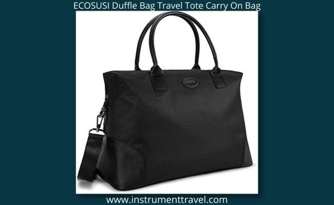 ECOSUSI Duffle Bag Travel Tote Carry On Bag