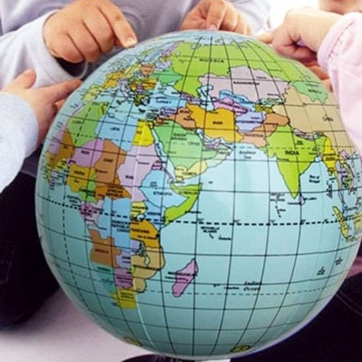 38cm Inflatable World Globe Earth Map Teaching Geography Map Beach     Preview