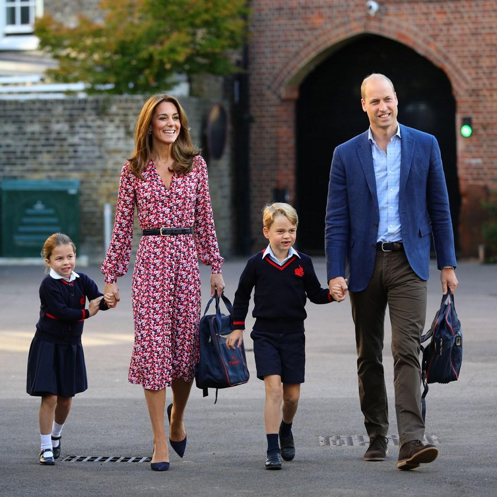 Toda la familia acompaña a la princesa Charlotte en su primer día de clases