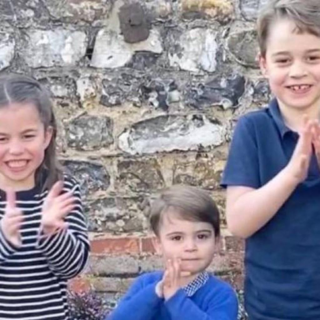 George, Charlotte y Louis hicieron el video más tierno de la cuarentena