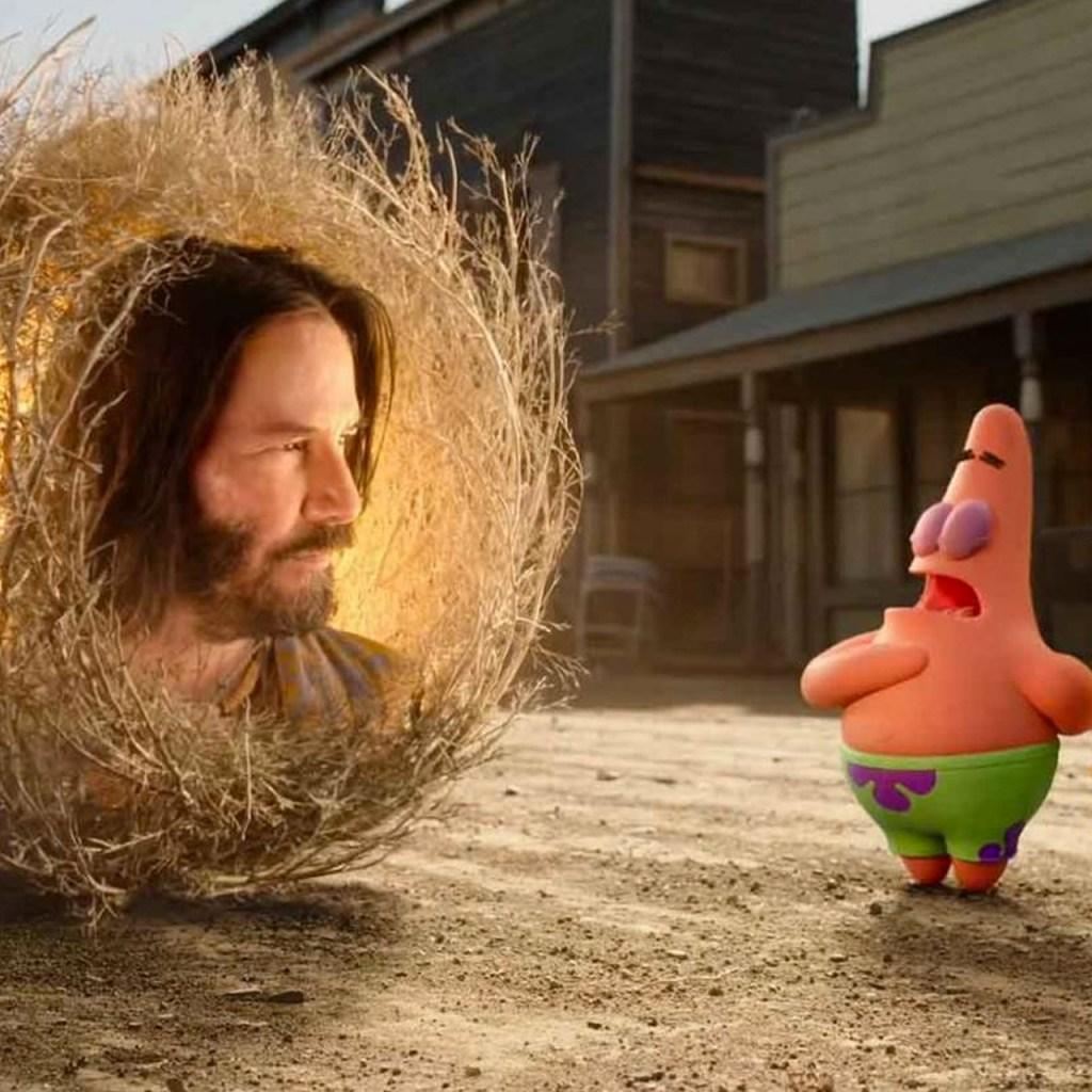 Keanu Reeves en la nueva película de Bob Esponja es todo lo que necesitamos