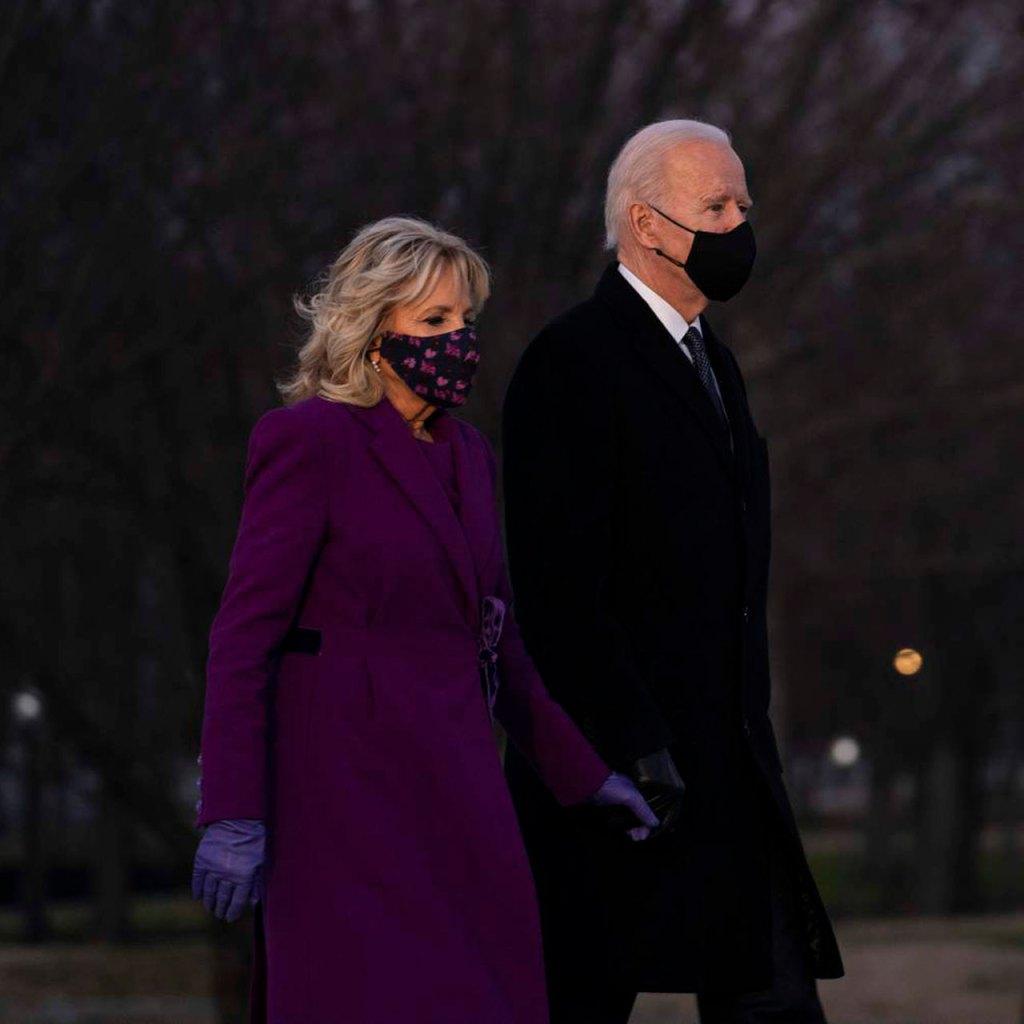 Jill Biden, la primera dama de Estados Unidos, llevó un total look de un diseñador mexicano