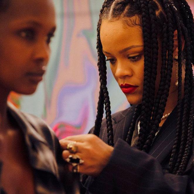 Rihanna pausará la producción de su marca Fenty (LVMH)