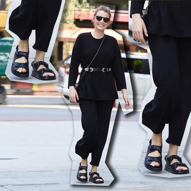 Blake Lively nos muestra cómo llevar dad sandals de la manera más cool