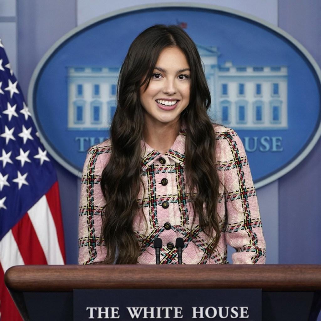 Olivia Rodrigo vistió vintage y plataformas para su visita en la Casa Blanca