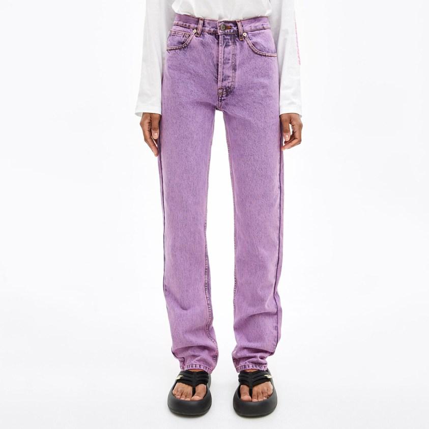 acid wash denim pink jeans