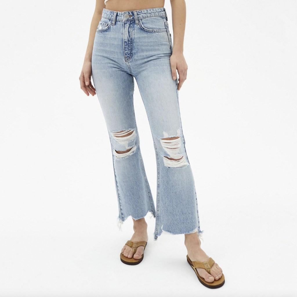 cropped pants rotos