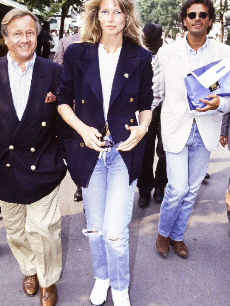outfits con jeans de los 90