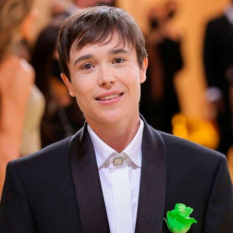 Este es el significado de la rosa verde del look de Elliot Page para la MET Gala