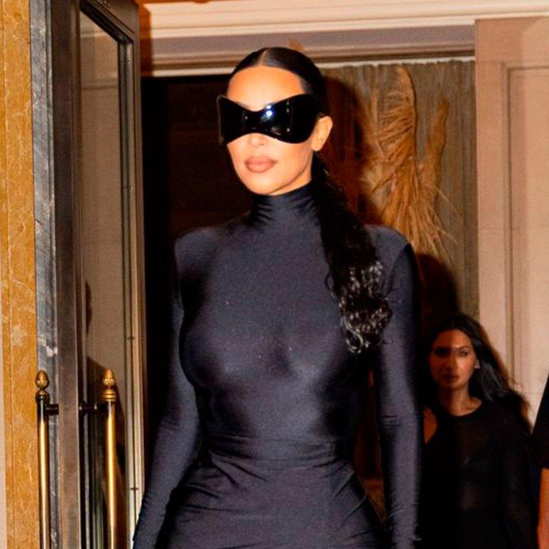 Kim Kardashian llevó un segundo outfit igual de impactante, de superhéroe