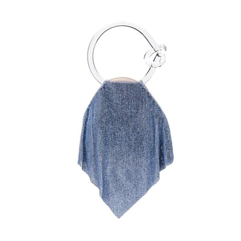 Bolsa de mesh azul