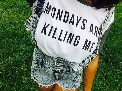 OOTD: Monday Shirt Featuring DenimOverall Shorts
