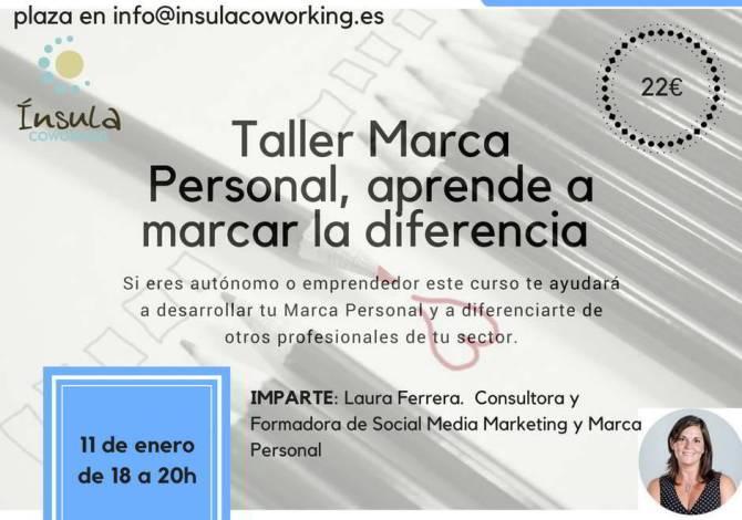 Marca Personal, aprende a marcar la diferencia. Jueves 11 de enero
