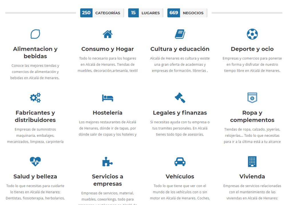 Pantallazo del directorio de empresas de lacallemayor.net