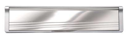 Aluminum Flaps Silver Frame Elite Mail Slot