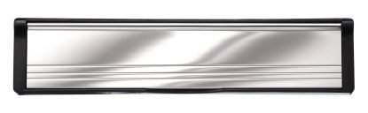 Polished Aluminum Flaps Black Frame Elite Mail Slot