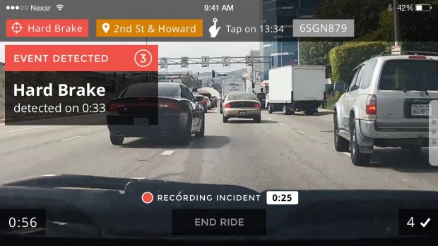 nexar smartphone app driving data