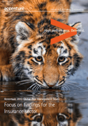 Accenture 2013 Global Risk Management Study: Focus on findings for the insurance sector