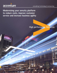 Modernizing your annuity platform to reduce costs, improve customer service and increase business agility