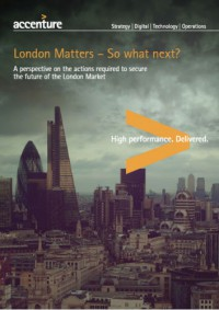 London Matters - So what next? A perspective on the actions required to the future of the London market